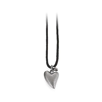 Halskæde af faldskærmsline med hjerte vedhæng