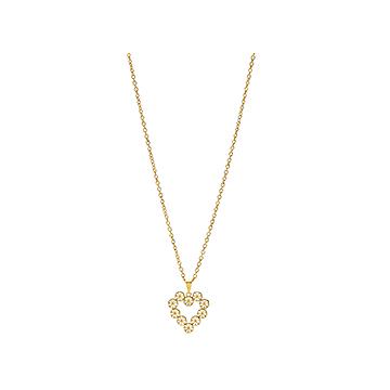 Margueritte hjertevedhæng med kæde