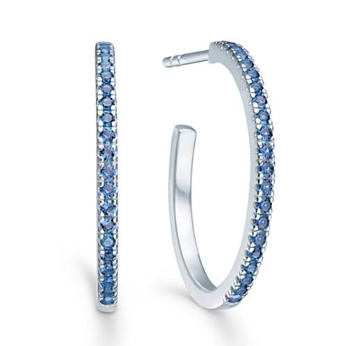 idfine ring ørehænger med blå