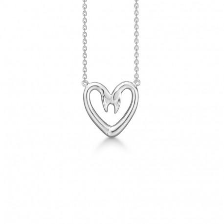 love-swans-sølv-halskæde-lille