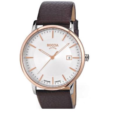 Boccia titanium herre ur med læder rem