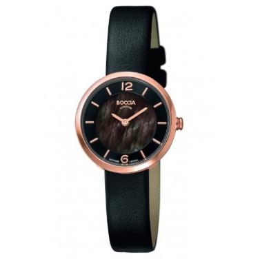 Boccia dameur titanium ur med læder rem