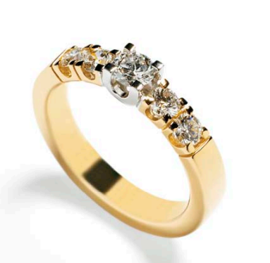 RUBEN SVART - DIAMANT RING