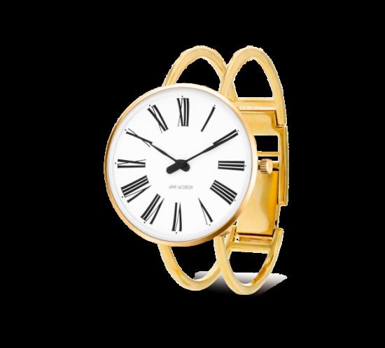 ROMAN armbåndsur i forgyldt stål med bøjle - Arne Jacobsen