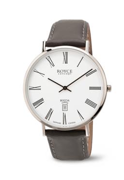 Boccia herre ur med grå rem og romer tal