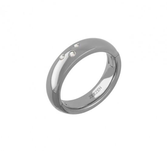 ZeeZen titan klik ring med 3 Diamanter