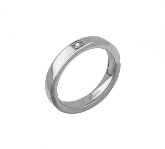 ZeeZen titan klik ring med Diamant
