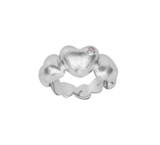 Hjerte ring med diamant fra Shape