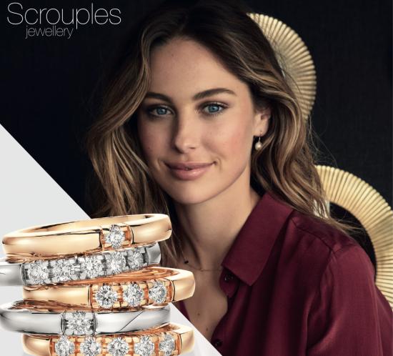 Grace serie med diamanter og i guld fra Scrouples