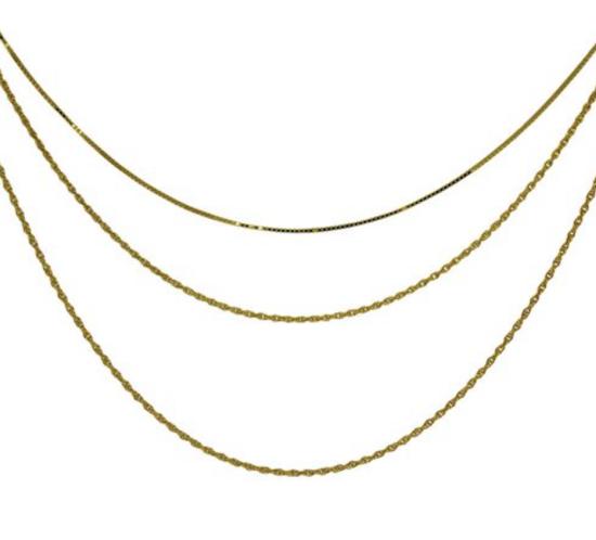 3 rækket forgyldt kæde fra Aqua Dulce
