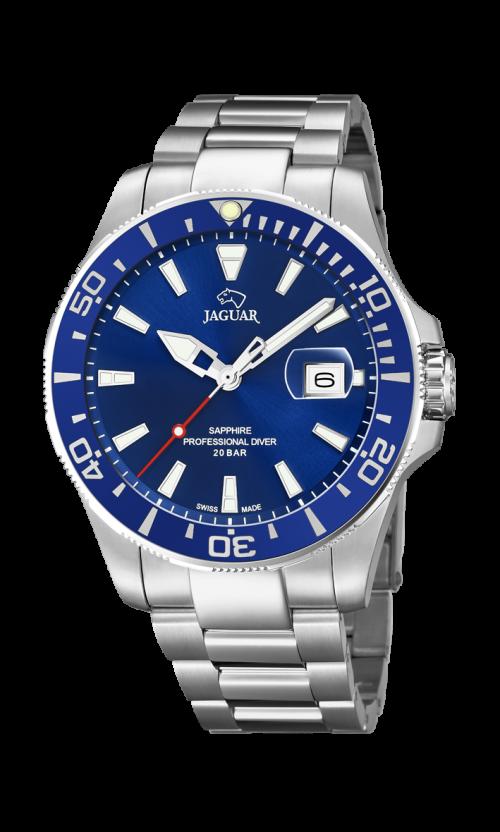 Jaguar Executive Diver Ur med blå skive og stål lænke