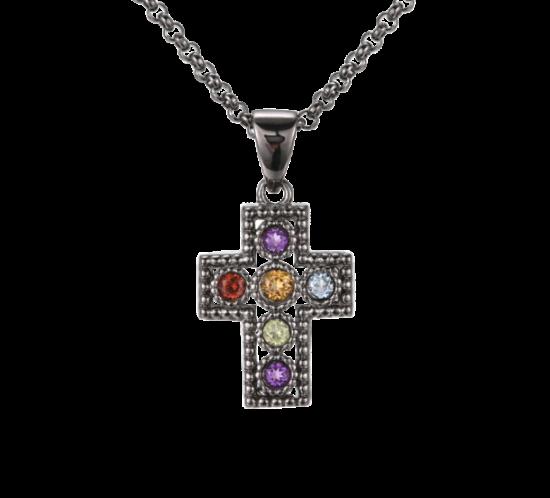 Lille kors med farvet sten fra Designers Favorites