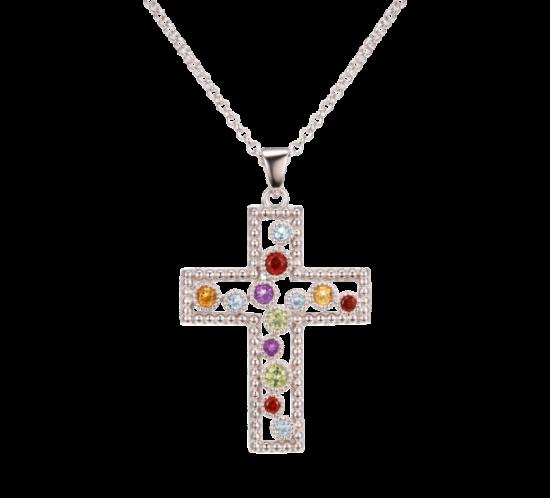 Stort sølv Kors Halskæde fra Designers Favorites