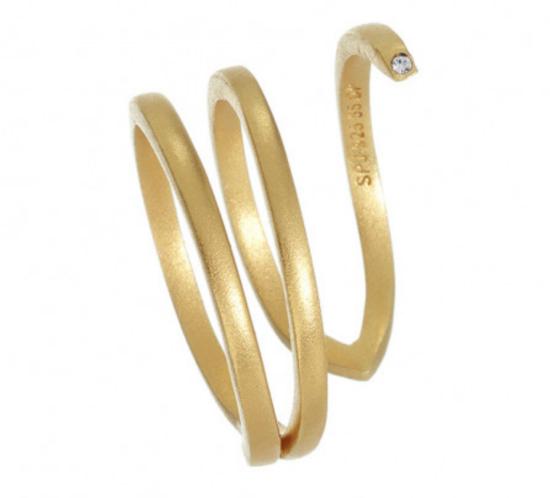 Twist Ring i forgyldt sølv fra Spinning
