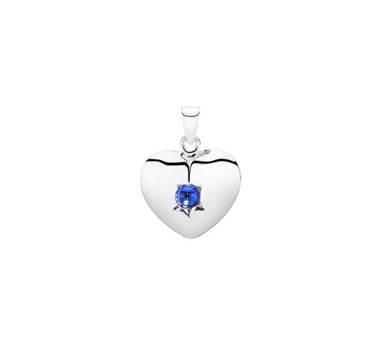 Hjerte med blå sten fra Lund Copenhagen