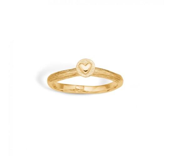 Lille plade med hjerte ring fra Blossom