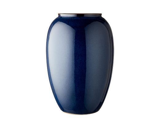 Bitz vase i mørkeblå 50cm.