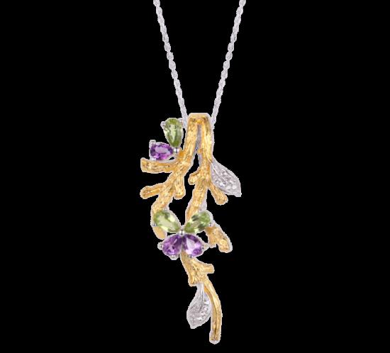 Halskæde med sommerfugl på gren fra Designers Favorites