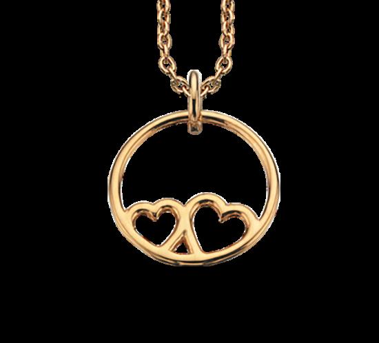 Halskæde - Scrouples cirkel med hjerte