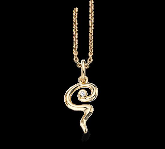 Halskæde - Scrouples slange med sten