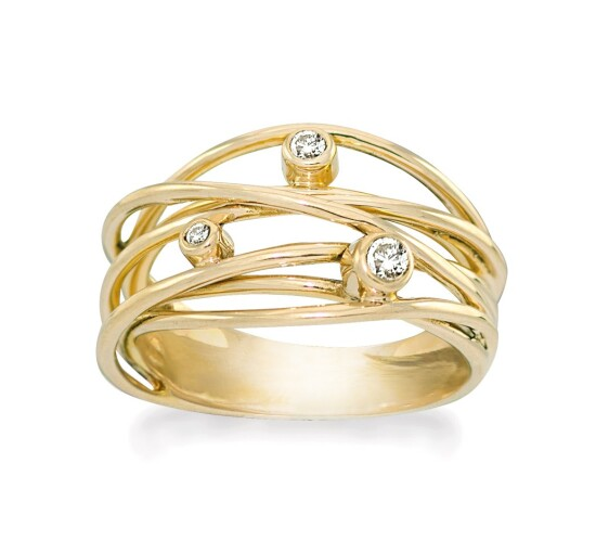 Ring forgyldt med hvid topas - Sparkling Dream - Rabinovich