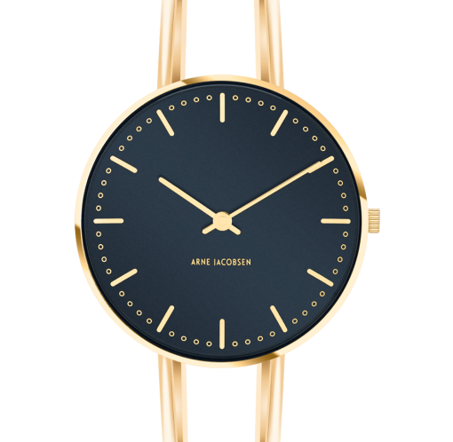 Arne Jacobsen - Bøjler City Hall ur med blå skive