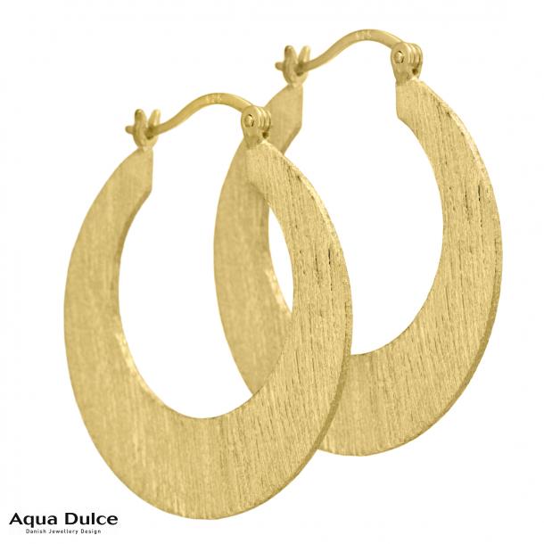 Marla creoler fra Aqua Dulce i forgyldt sølv